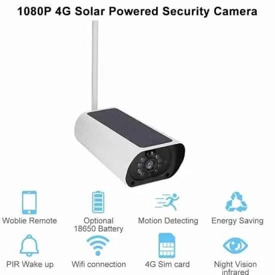 solar powered camera specifications