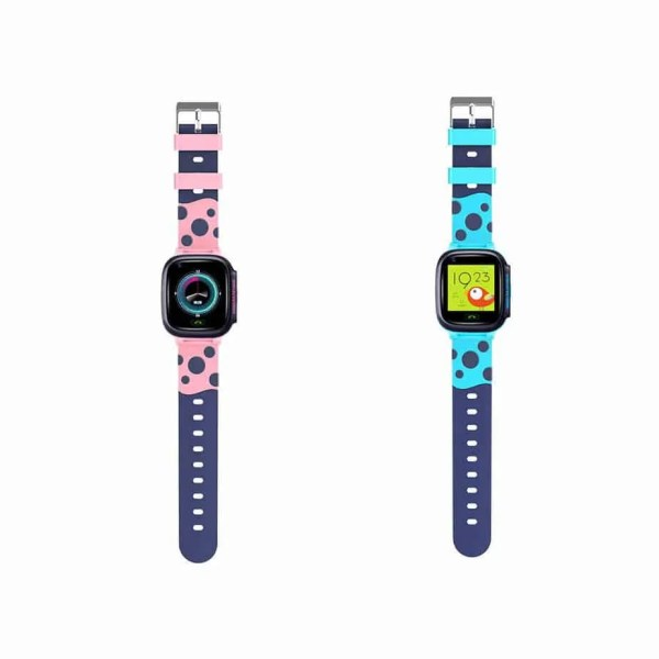 Child safe tracking watch pink and blue
