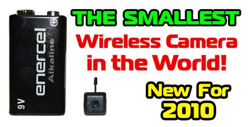 Worlds SMALLEST Wireless 58GHz Color Spy Camera