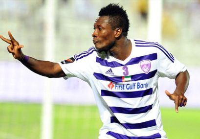 Asamoah Gyan scored a hat-trick