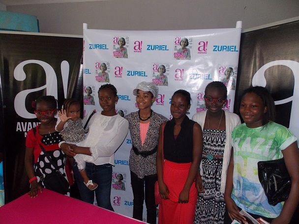 Zuriel and Children at AvantGarde Magazine Signing