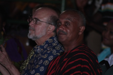 MOGO Dance Party - Sidney Casely Hayford and a guest enjoying the music