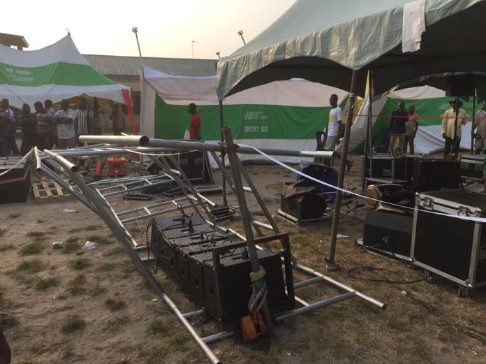 Destroyed items at the planned rally ground [1]