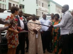 Mr-Julius-Debrah-handed-over-the-keys-to-Mr-Hanan-Gundadoo-and-Mrs-Fafa-Afua-Adinyira-Tamale-Mayor-and-Ho-Municipal-Chief-Executive-respectively-as-Ms-Amelie-JULY-AFD-Resident-Manager-looks-on