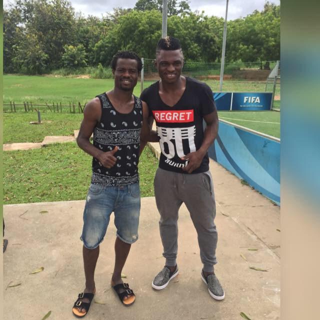 Ghana duo Rashid Sumaila and Anthony Annan