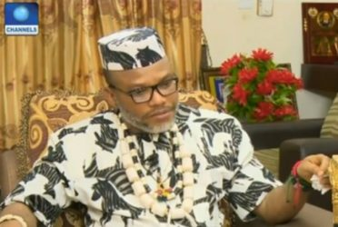 Nnamdi Kanu is in London