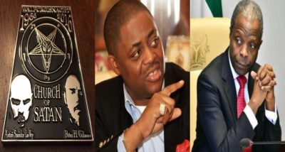 Church of Satan reacts after Femi Fani-Kayode calls Osinbajo an emissary of Satan