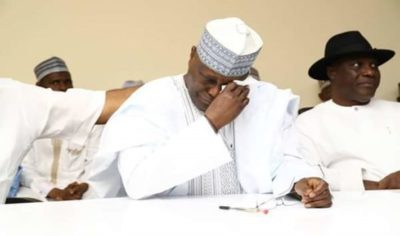 """My wife and daughter have been threatened to be raped and killed if I don't withdraw from the presidential race"" – Atiku Abubakar"