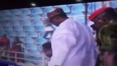 Presidential Campaign: Buhari Fell Down In Kogi Stadium