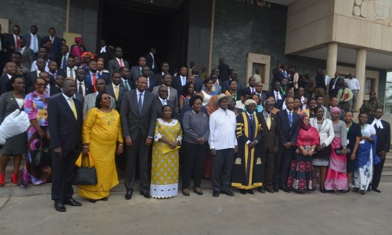 Museveni opens the East African Legislative Assembly sitting at Parliament