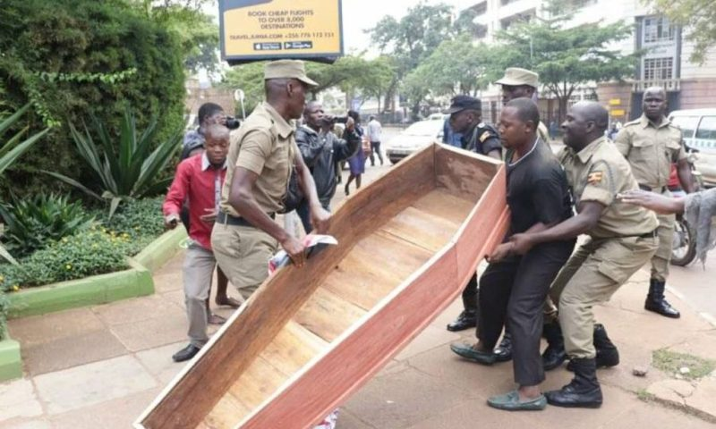 Two Remanded To Luzira For Dropping Coffin At Parliament