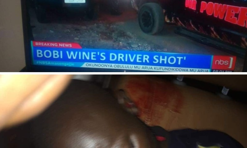 It's Do Or Die In Arua By Elections: Bobi Wine Survives Assassination As Driver Is Shot Dead!