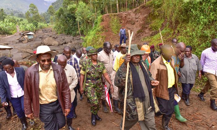 President Museveni Visits Bududa Mudslide Survivors