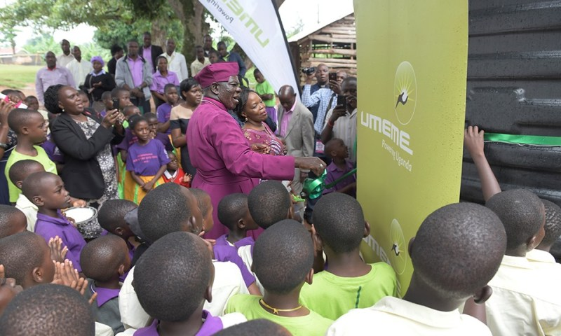 Umeme Donates Water Tanks To Bishop's School
