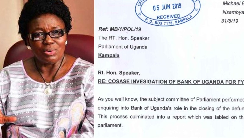 Another Concerned Citizen Petitions Speaker Kadaga To Block COSASE 2nd Probe On BoU