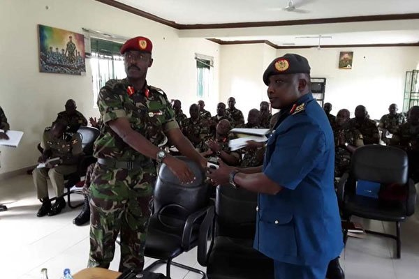 Former SFC Commander Maj. Gen. Don Nabasa Hands Over Office To Newly Appointed
