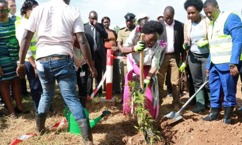Speaker Kadaga Launches Tree Planting Initiative