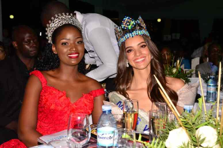 Quiin Abenakyo chilling with Miss World Vanessa Ponce