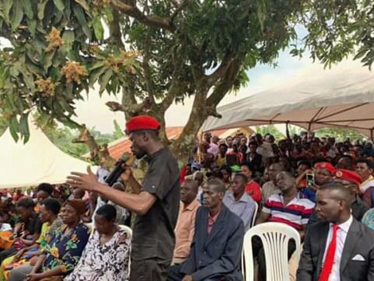 Bobi Wine at Ziggy Wine burial