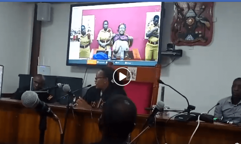 Chaos In Court As  Dr.Stella Nyanzi Strips Before Magistrate Kamasanyu