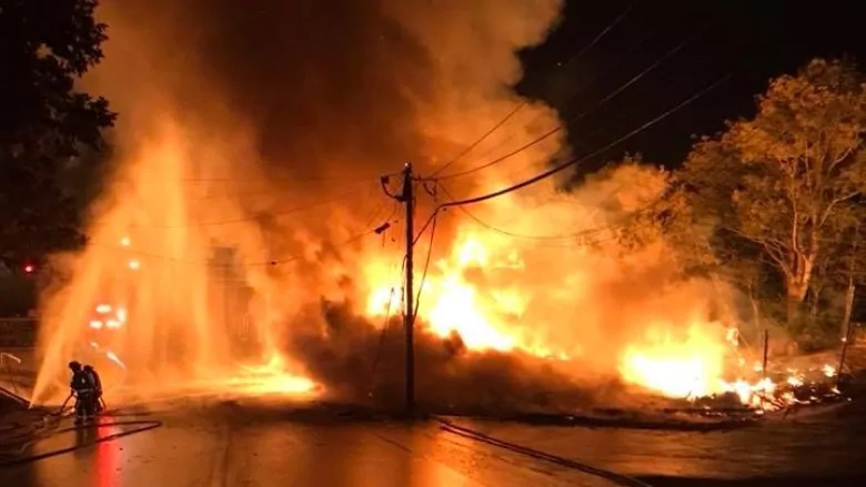 People Left Homeless As Fire In Jinja Razes Buildings