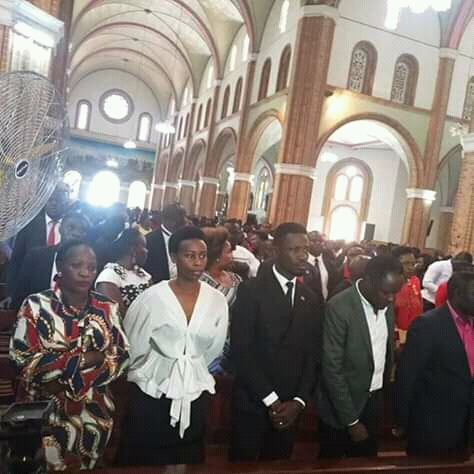 People Power Politicians  Hold Celebrity Mass At Lubaga Cathedral, Bobi Wine Blasts Gov't For Blocking  Concerts