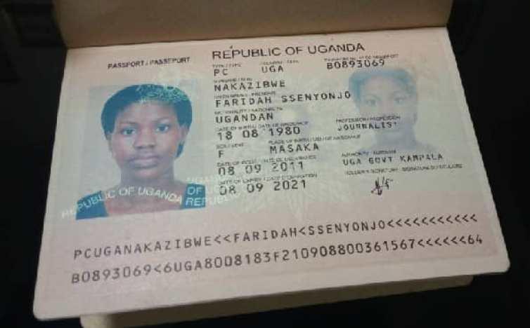 Faridah Nakazibwe passport