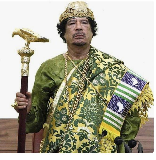 Col. Muammar Gaddafi the African king