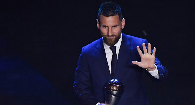 Lionel Messi Wins 2019 FIFA Best Player Of The Year