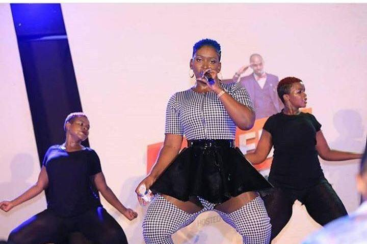 Nwagi Does It Again! Singer Flashes  Knickers At Fans