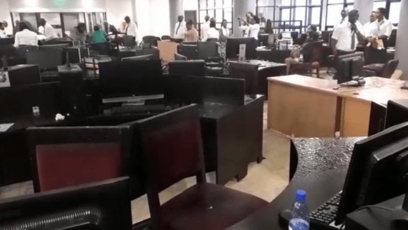 Water filling desks of URA staff