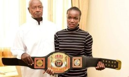 Museveni Meets Kickboxer Apolot, Promises To Clear All Her Expenses