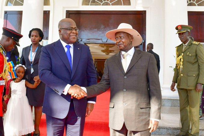 Museveni Welcomes DR Congo President Tshisekedi