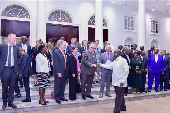 Museveni Meets European Union Delegation, Assures Them Of Peaceful 2021 Election