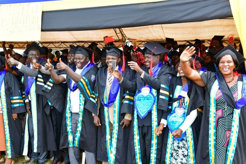 Some of the successful graduands at the ceremony