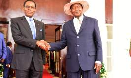 Equatorial Guinea President Obiang In Uganda For State Visit
