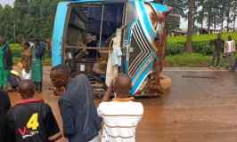 Scores Feared Dead After Baby Coach Overturns In  Nasty Accident