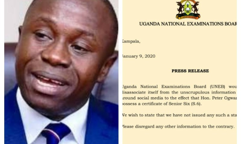 UNEB Speaks Out On Min. Ogwang's Academic Papers Saga