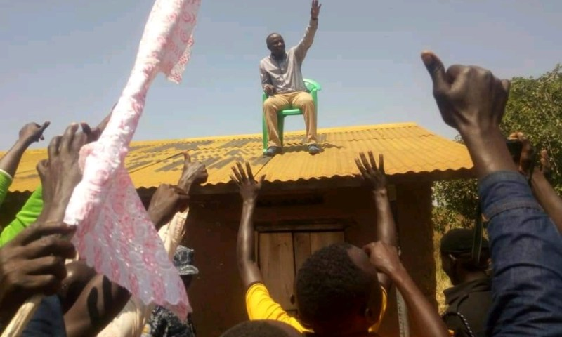 Min. Ogwang Crowned 'King' Of Katakwi On Rooftop Throne