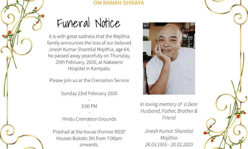 Fallen UKI Boss Jinesh To Be Cremated On Sunday At Naguru Hindu Cremation Grounds
