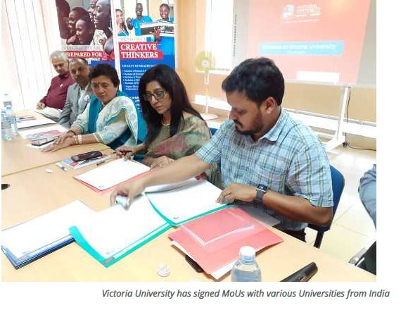 Victoria University Signs MoUs With 16 Top Indian Universities  For Student Exchange Programs