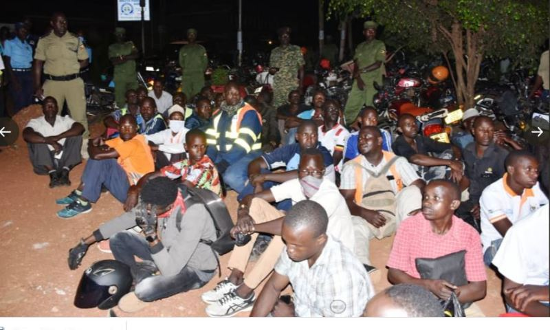 Several Ugandans Rounded Up In Kampala For Breaching COVID-19 Curfew