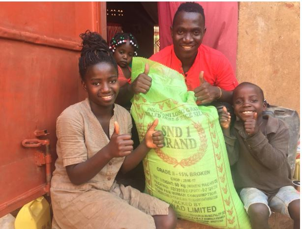 Gospel Artiste Kasiita Donates Food To Orphans During COVID-19 Lockdown