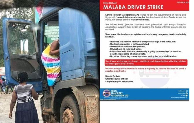Crisis Looms As Truck Drivers'  Strike At Malaba Border Over COVID-19 Quarantine Starts To Bite