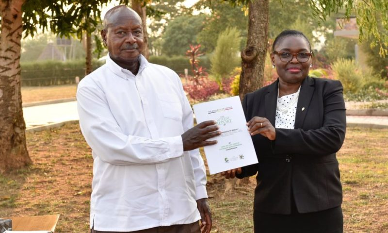 President Museveni Receives Bamugemereire's Land Commission Report, Over 8528 Disputes Registered