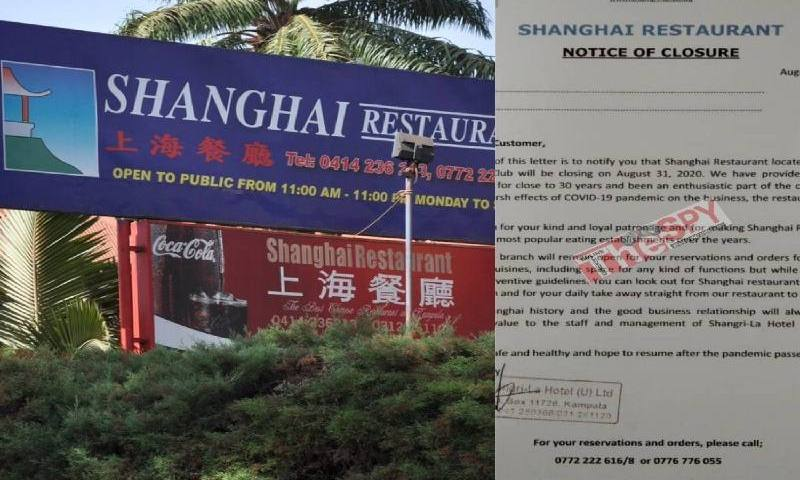 COVID-19:Shanghai Restaurant Kampala Closes Operations After 30yrs Of Service