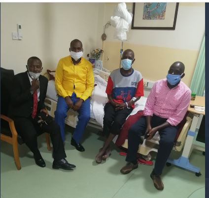 Min.Tumwebaze Leads Team To Visit Bedridden Ofwono Opondo