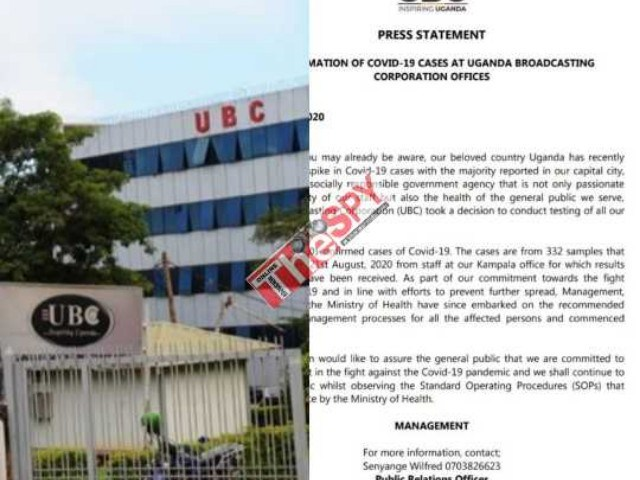 Just In: Govt's Media Agency UBC Confirms 10 COVID-19 Cases