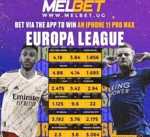 EL: Molde Vs Arsenal Line-ups Unveiled As MELBET UG Offers Surprising Goodies, Check Out!