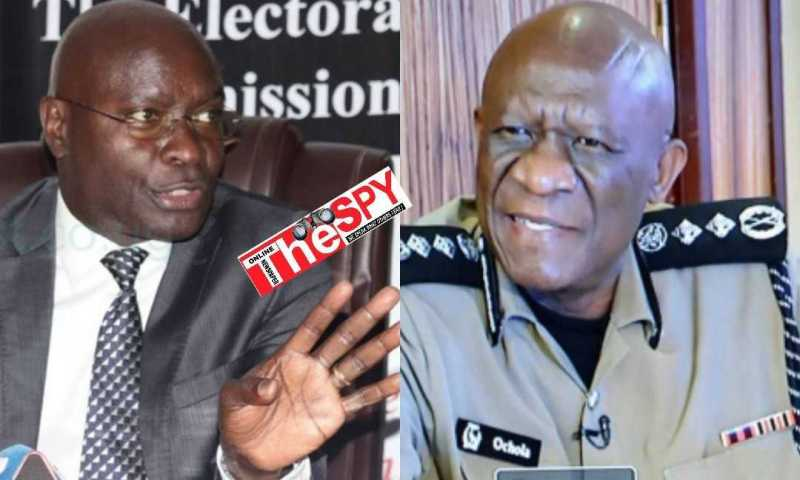 Sleepy EC Chairman Byabakama Finally Wakes Up, Writes To IGP Over Police Brutality Against Opposition Presidential Candidates